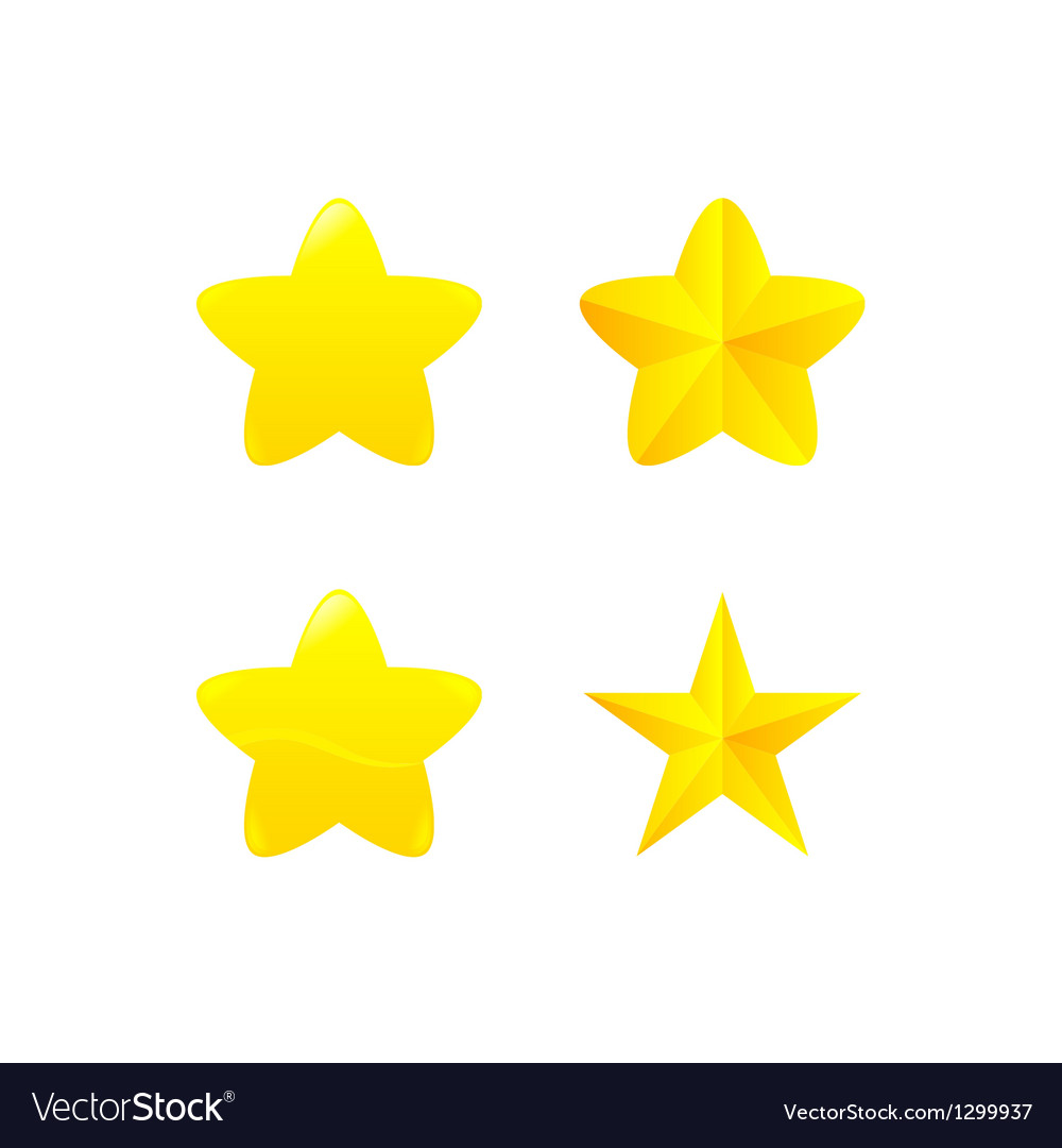 Variations of star award vector | Price: 1 Credit (USD $1)