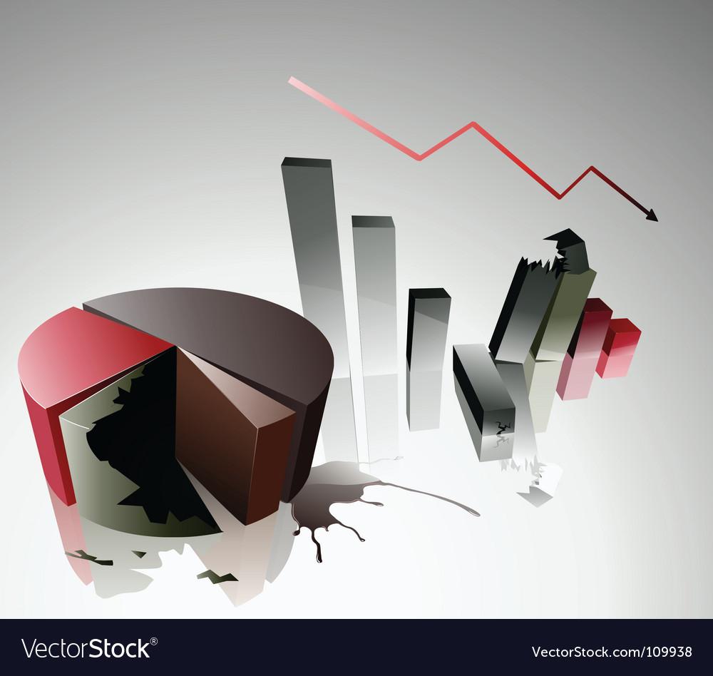Concept of a financial crisis vector | Price: 1 Credit (USD $1)