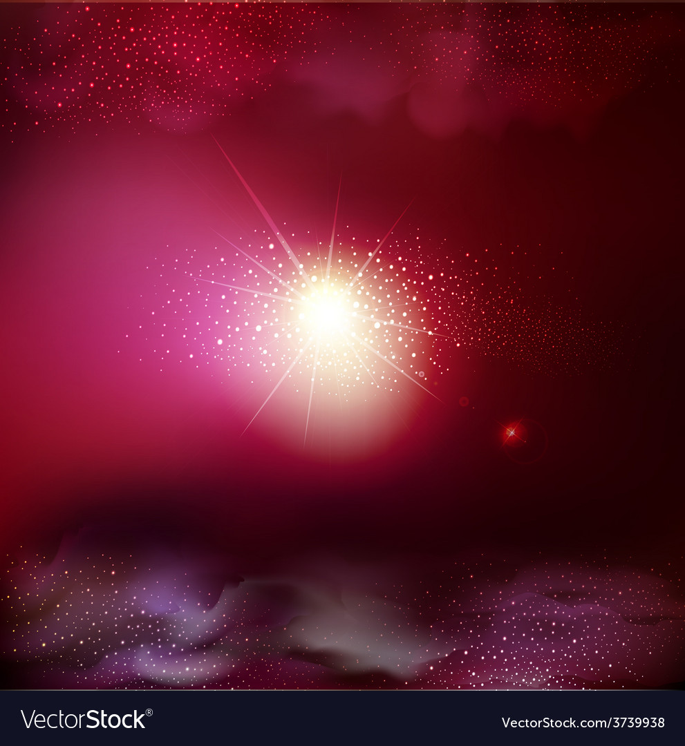 Fantastic background with space vector