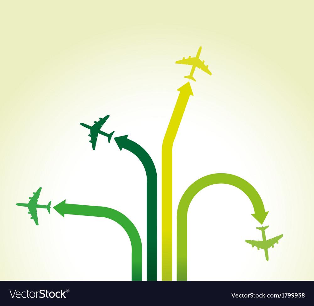 Green planes vector | Price: 1 Credit (USD $1)
