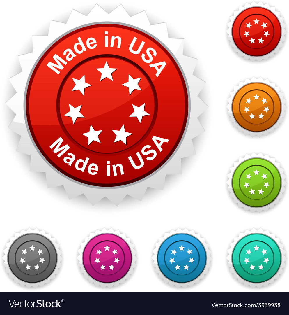 Made in usa award vector | Price: 1 Credit (USD $1)