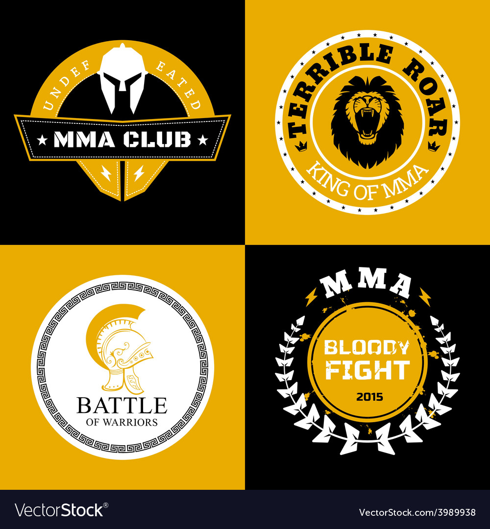 Mma battle logos or badges designs vector | Price: 1 Credit (USD $1)