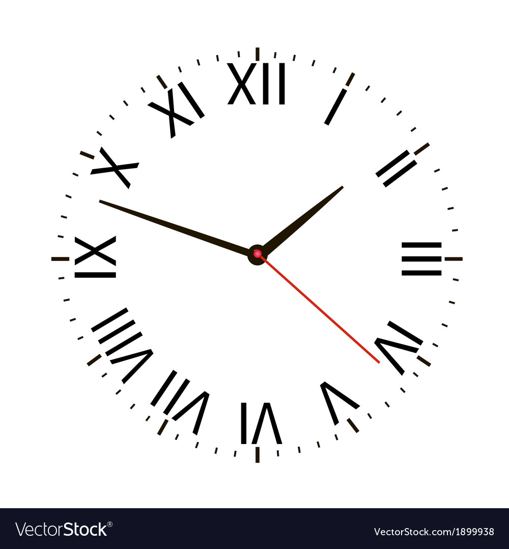 Old vintage clock vector | Price: 1 Credit (USD $1)