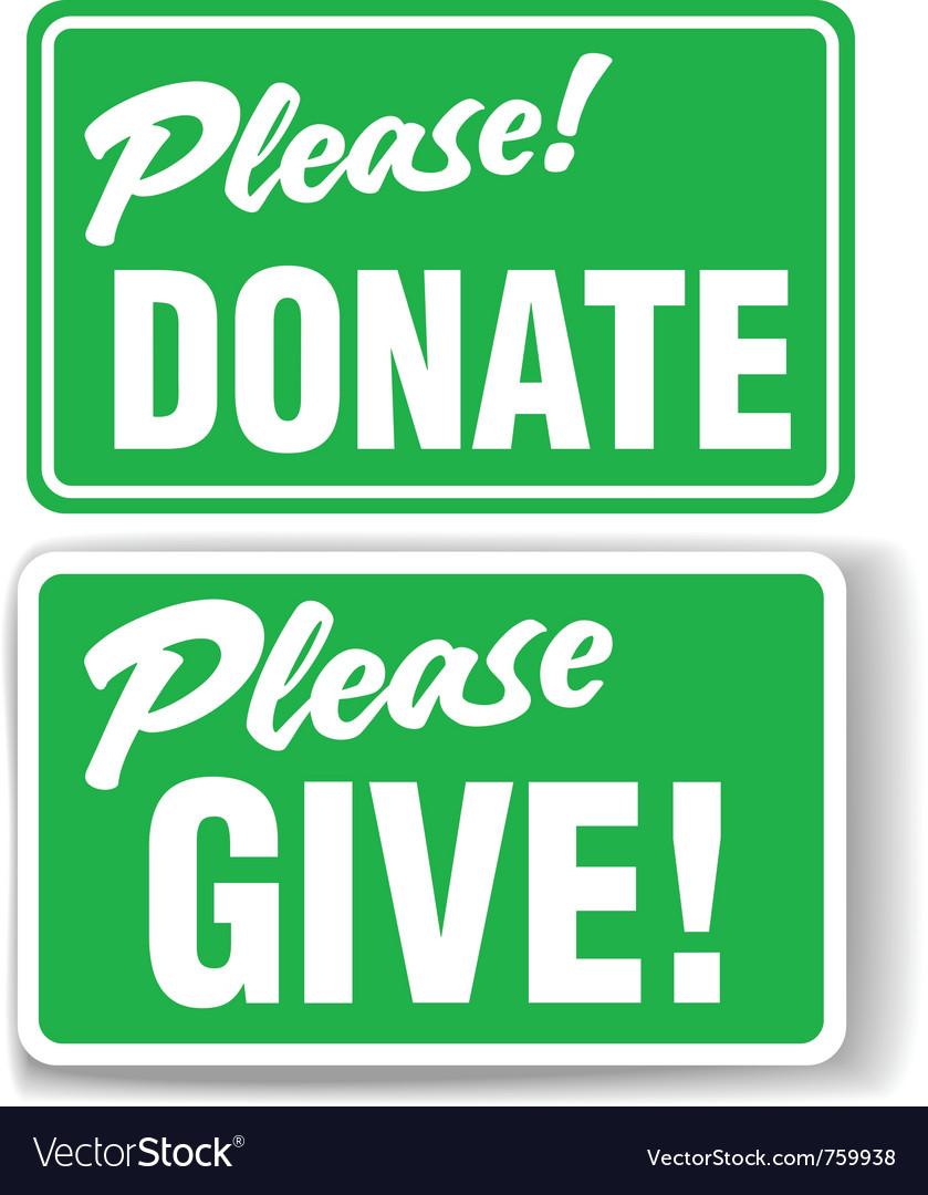 Please donate vector   Price: 1 Credit (USD $1)