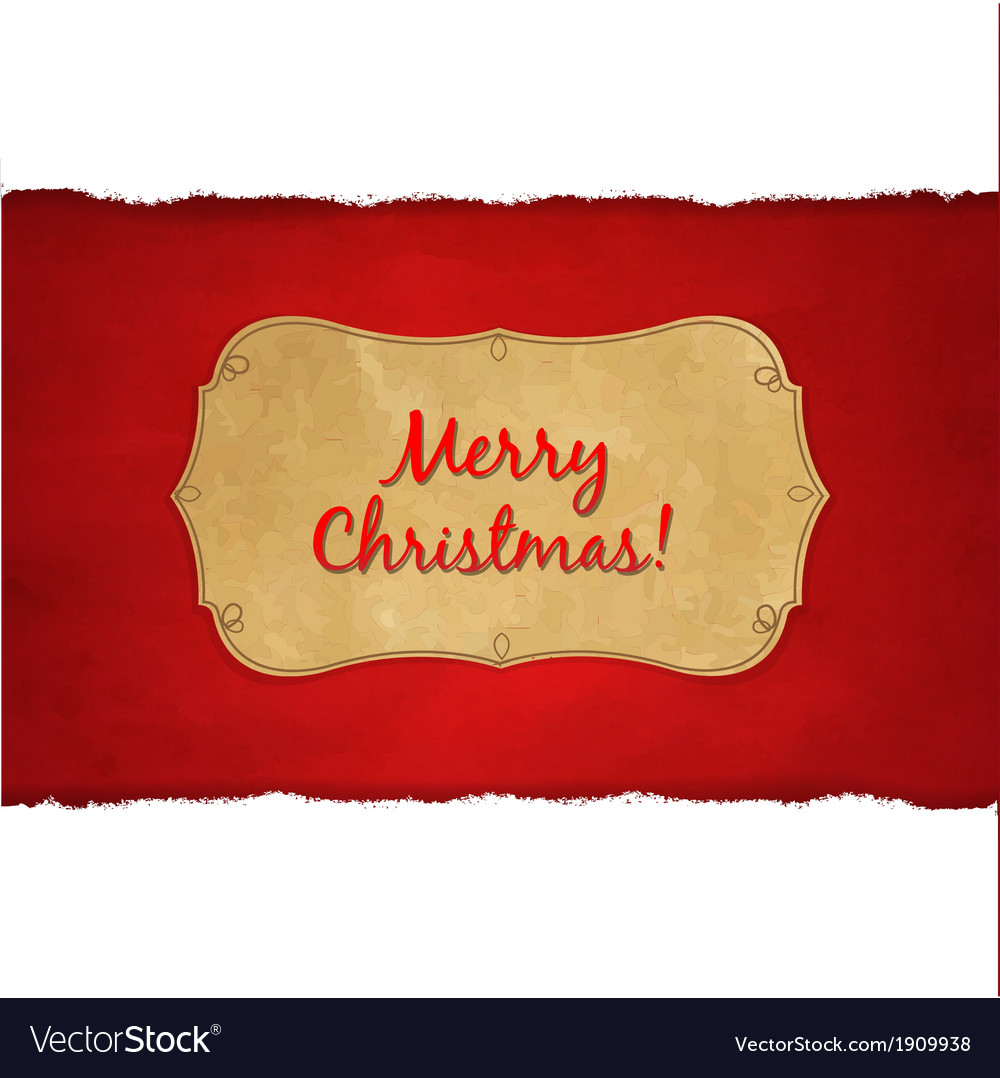 Rip white paper and dark red christmas background vector | Price: 1 Credit (USD $1)