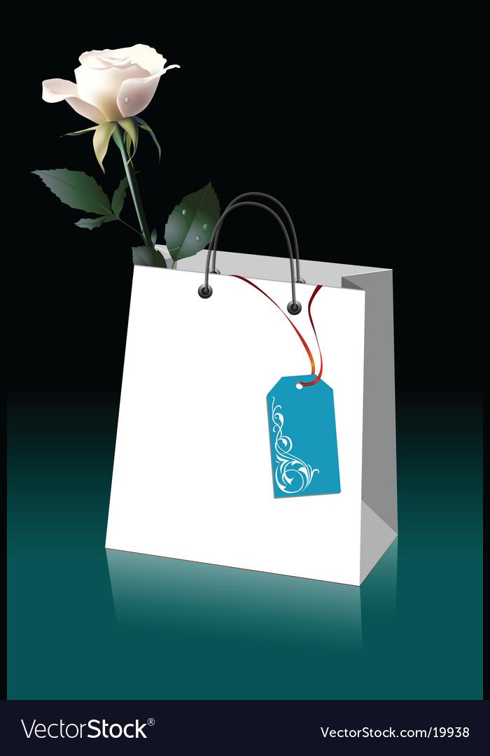 Rose in paper bag vector | Price: 3 Credit (USD $3)