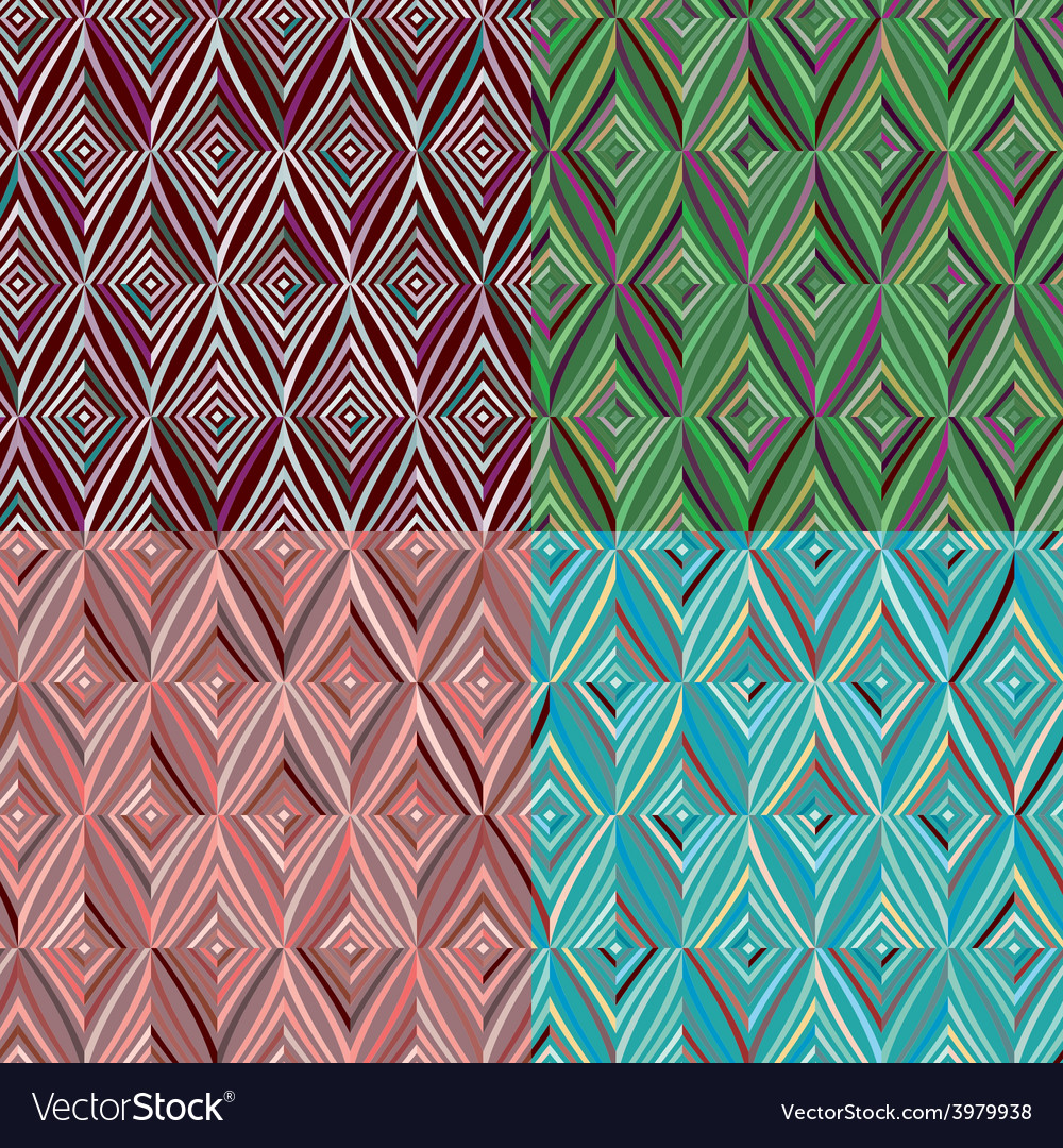 Set of 4 seamless pattern modern stylish texture vector | Price: 1 Credit (USD $1)