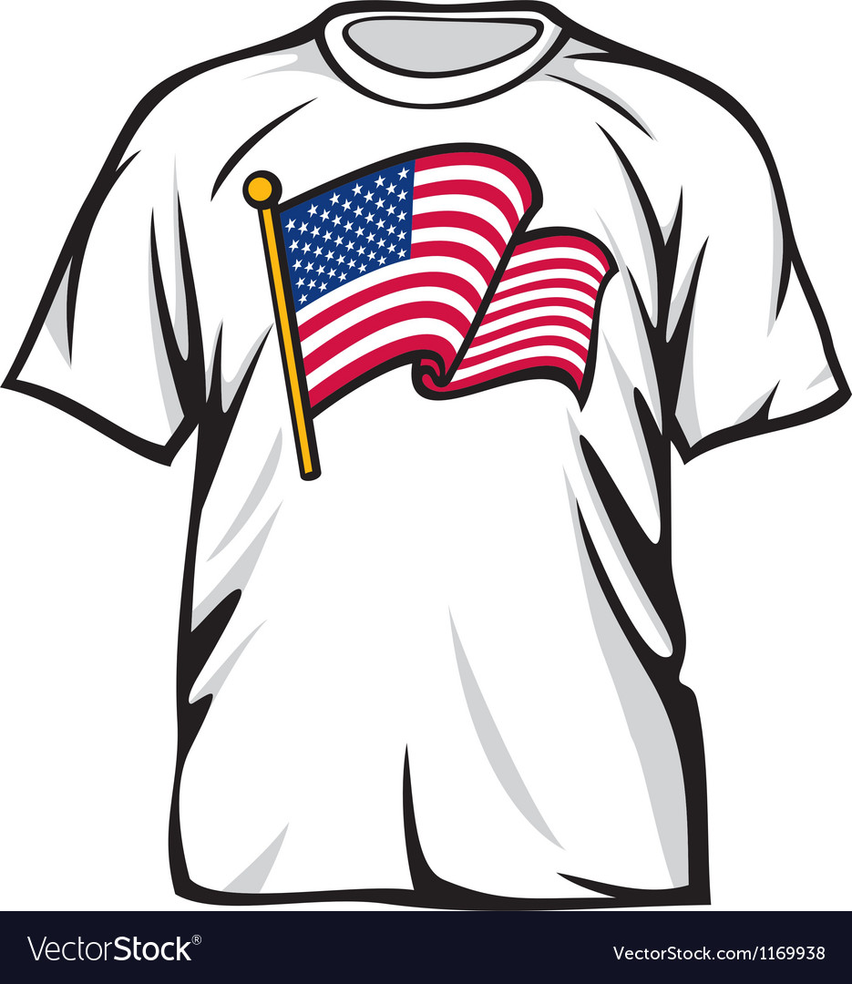 United states of america t-shirt vector | Price: 1 Credit (USD $1)