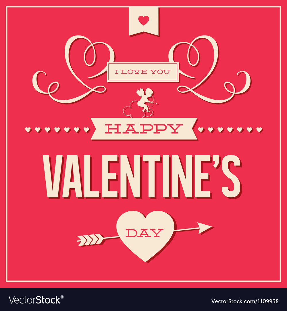 Valentines day love card vector | Price: 1 Credit (USD $1)