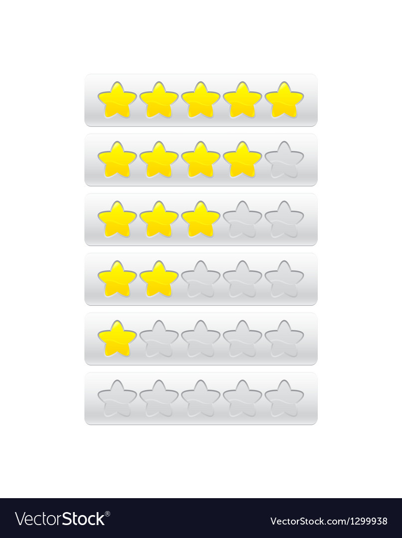 Yellow progress bar from stars vector | Price: 1 Credit (USD $1)