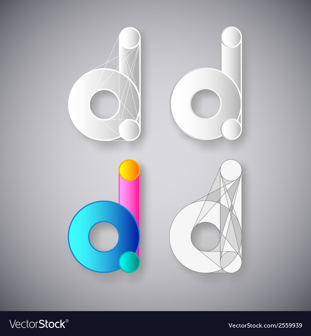 Abstract combination of letter d vector | Price: 1 Credit (USD $1)