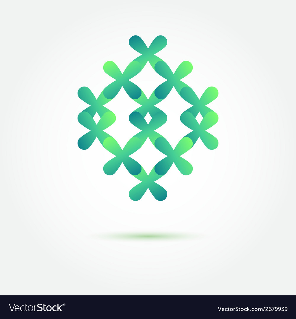 Abstract sybmol in green soft colors made of vector | Price: 1 Credit (USD $1)