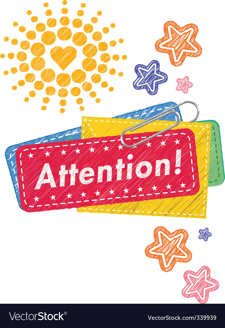 Attention icon vector | Price: 1 Credit (USD $1)