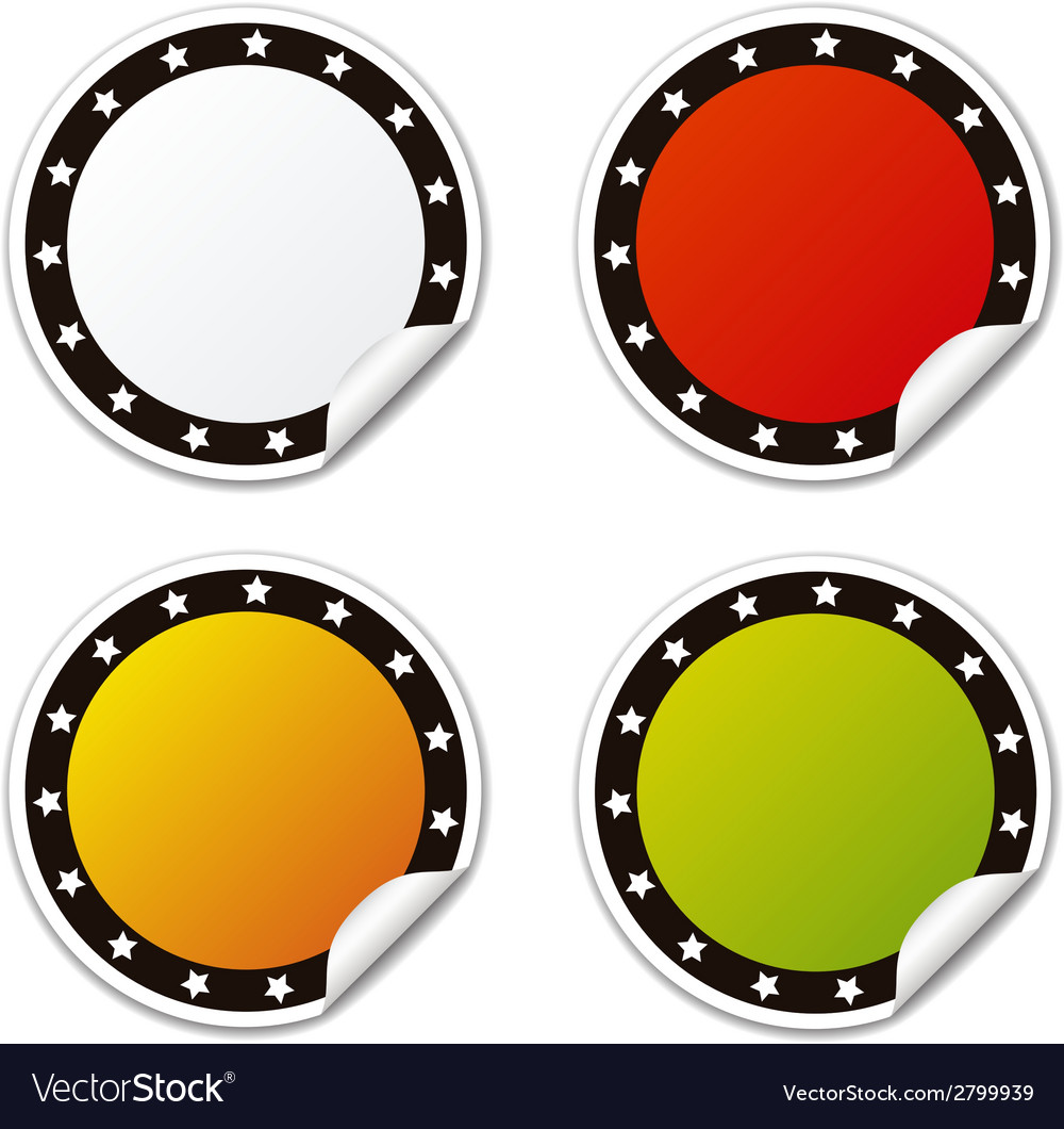 Circle sticker with stars colors vector | Price: 1 Credit (USD $1)
