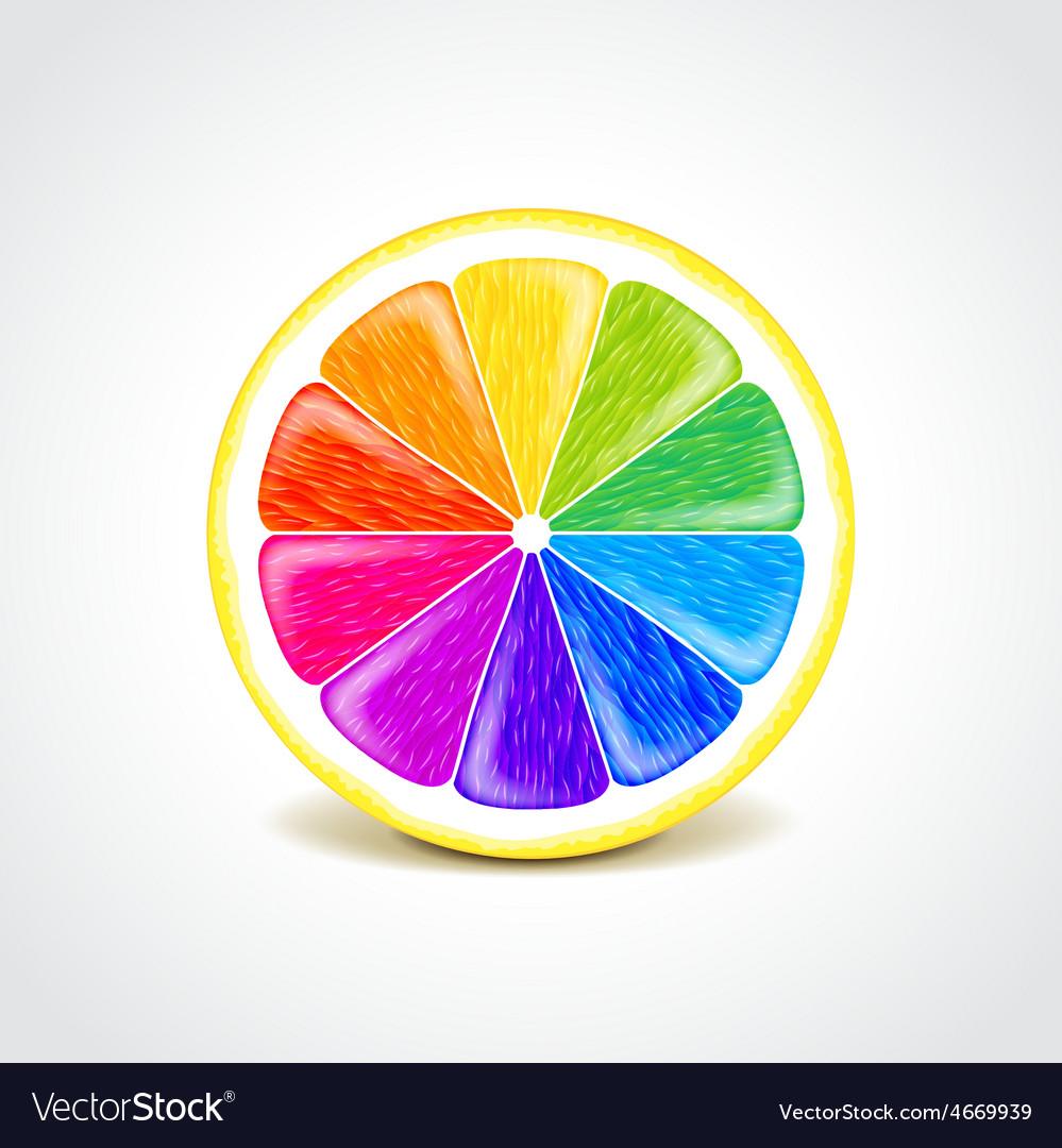 Colorful lemon creative concept vector | Price: 3 Credit (USD $3)