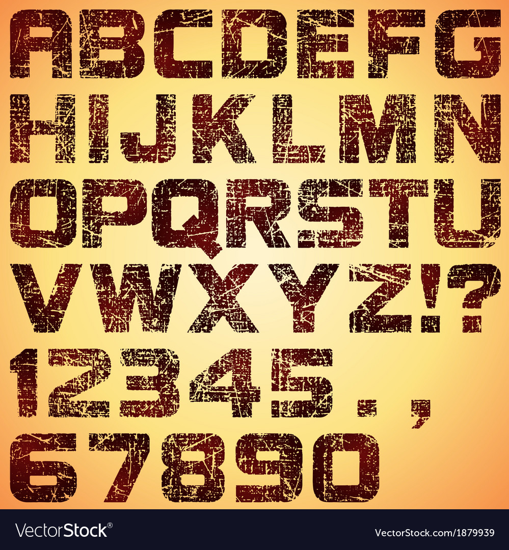 Grunge letters vector | Price: 1 Credit (USD $1)