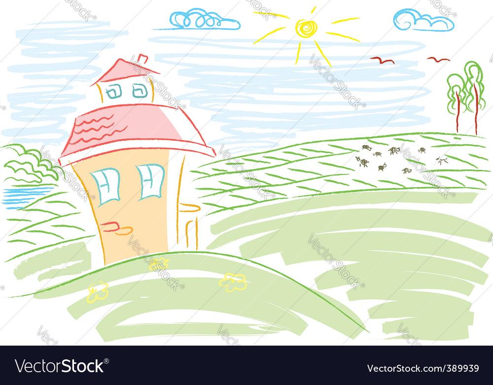 Landscape paints vector | Price: 1 Credit (USD $1)