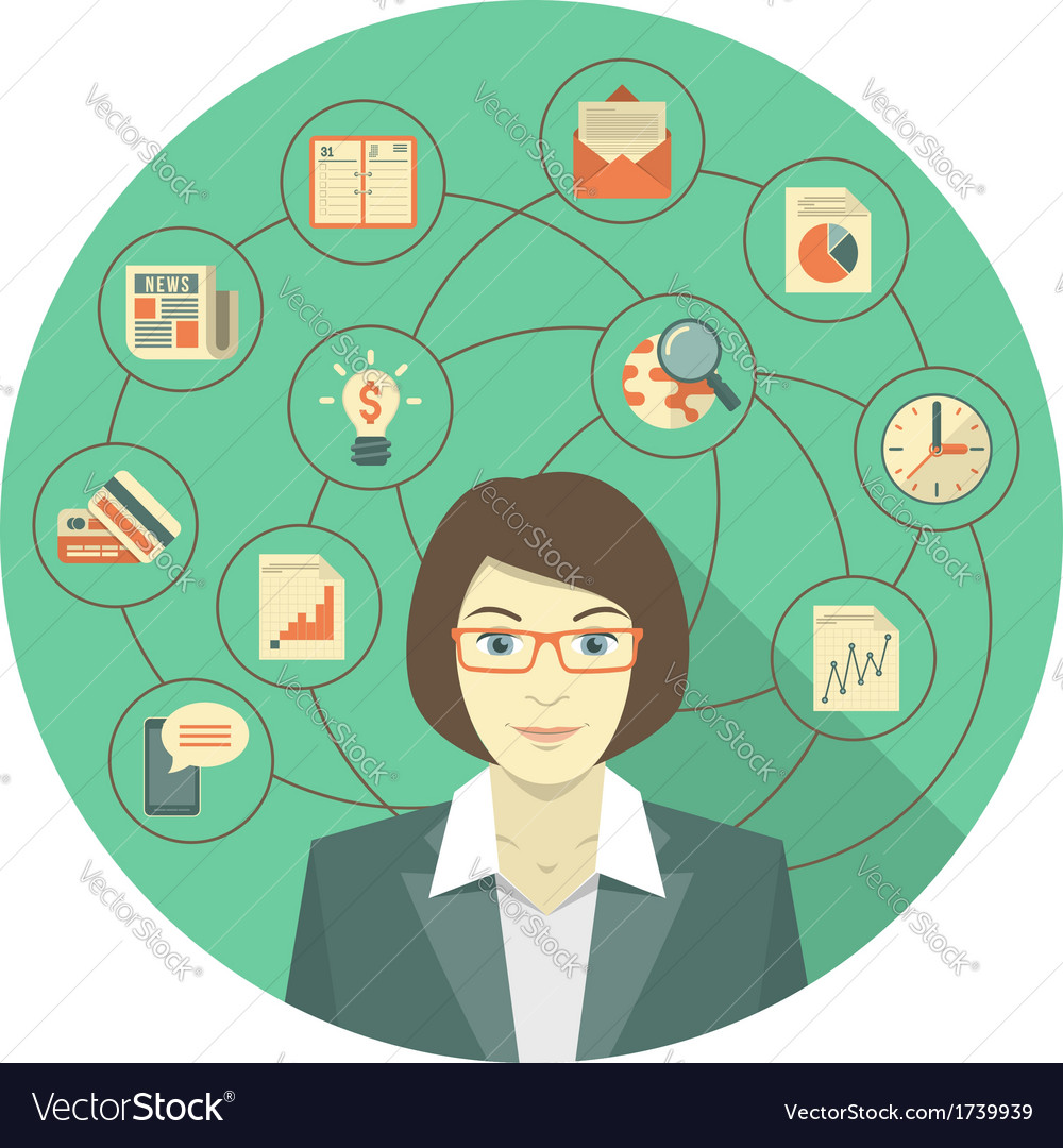 Modern business woman concept vector   Price: 1 Credit (USD $1)
