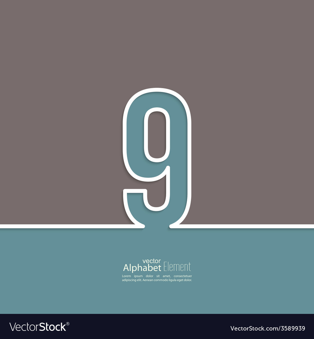 The number abstract background vector | Price: 1 Credit (USD $1)