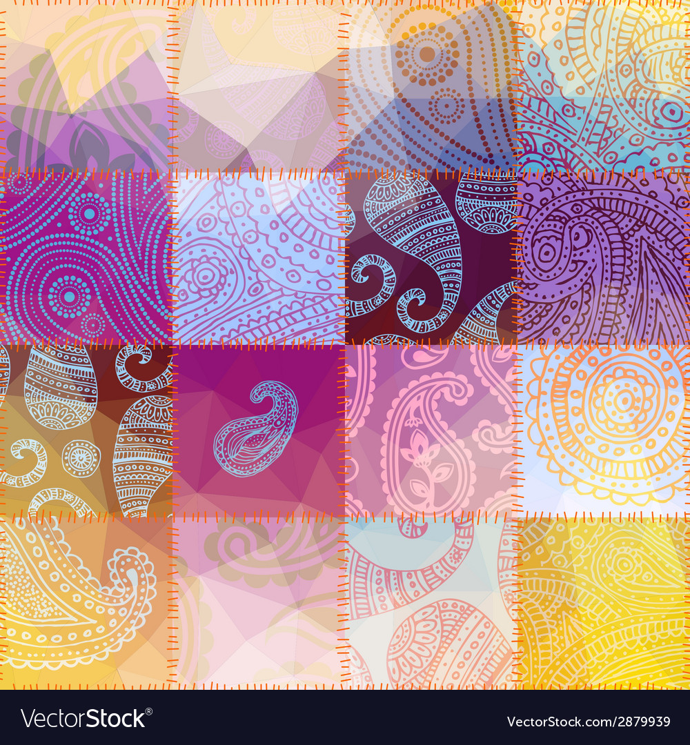 Patchwork with transparency effect vector | Price: 1 Credit (USD $1)