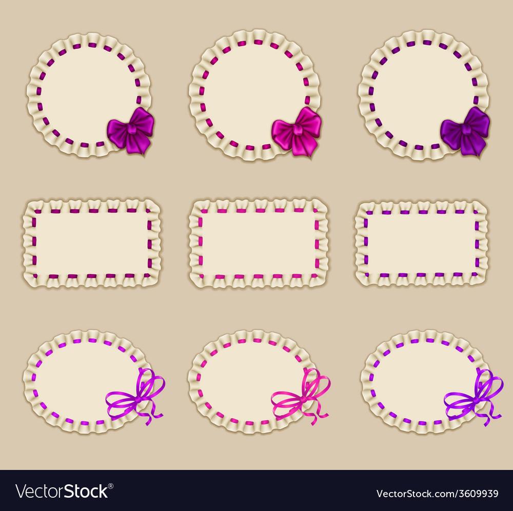 Set of elegant templates frame design vector | Price: 1 Credit (USD $1)
