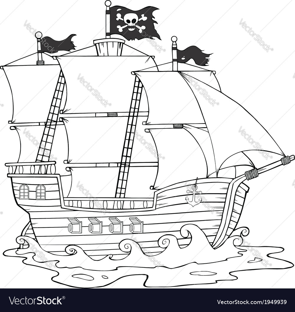 Ship cartoon vector | Price: 1 Credit (USD $1)