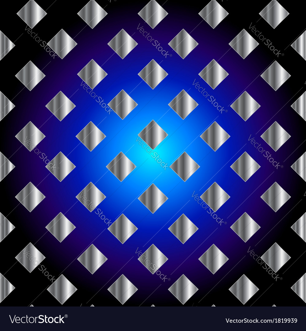 Silver metallic grid background vector | Price: 1 Credit (USD $1)