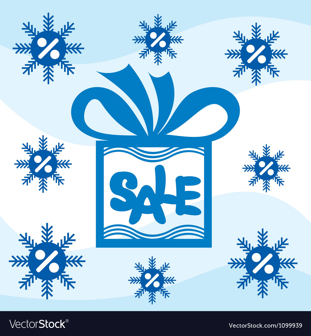 Winter sale background vector | Price: 1 Credit (USD $1)