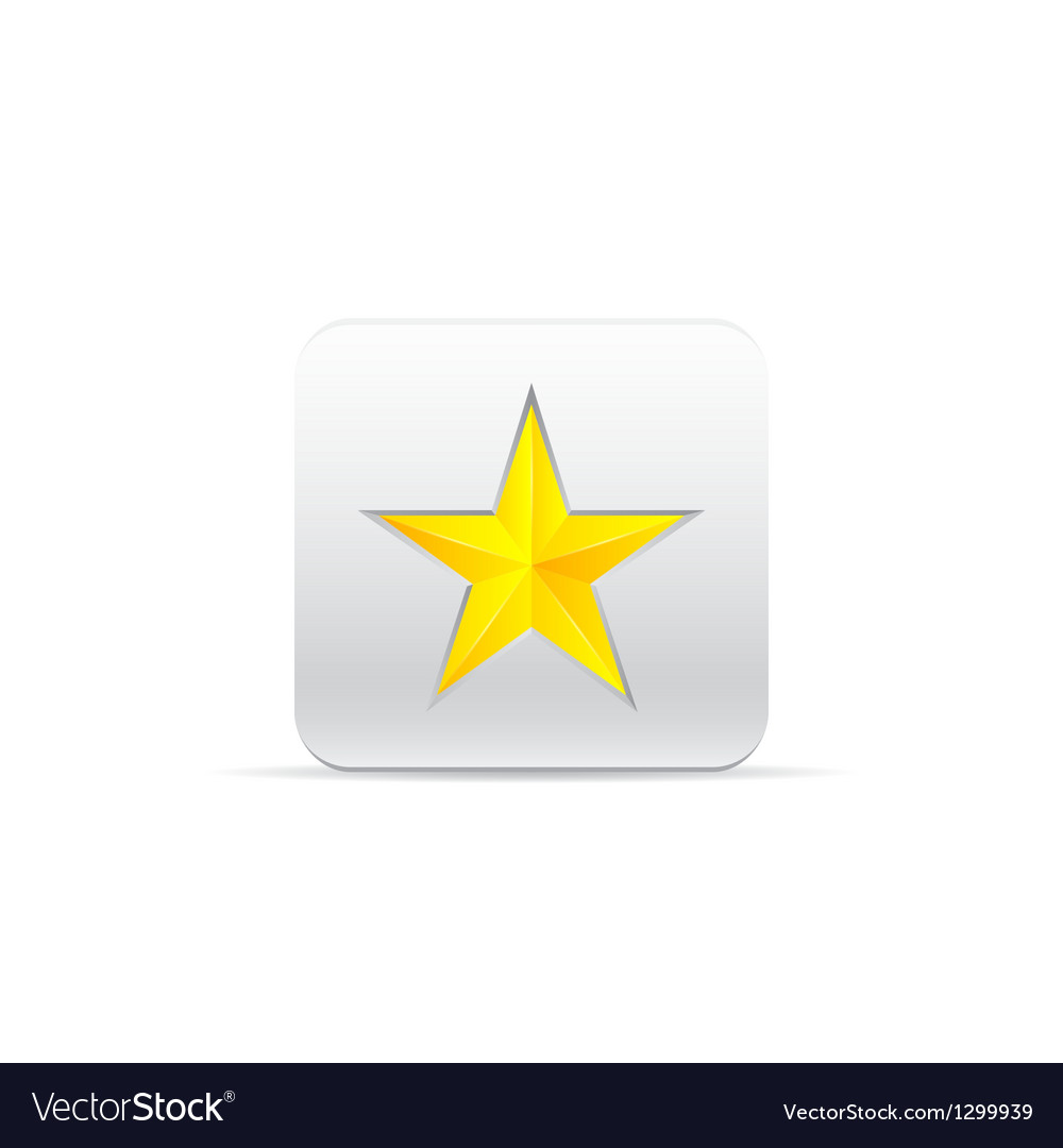 Yellow star for award vector | Price: 1 Credit (USD $1)