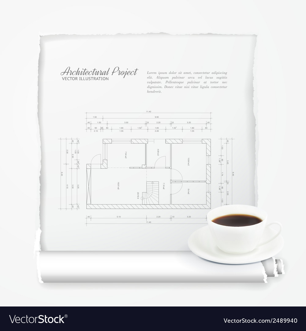 Architectural project vector | Price: 1 Credit (USD $1)