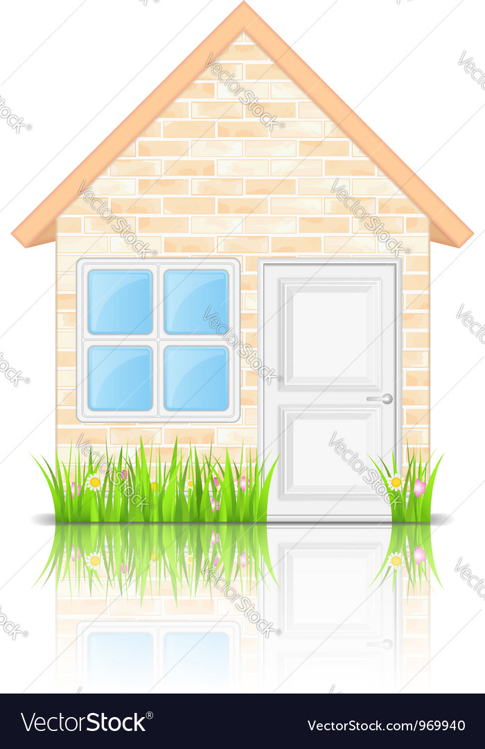 Brick house vector | Price: 3 Credit (USD $3)