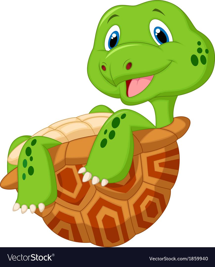 Cute tortoise cartoon vector | Price: 1 Credit (USD $1)