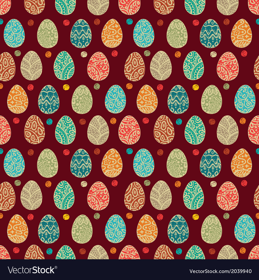 Eastern eggs seamless pattern vector | Price: 1 Credit (USD $1)
