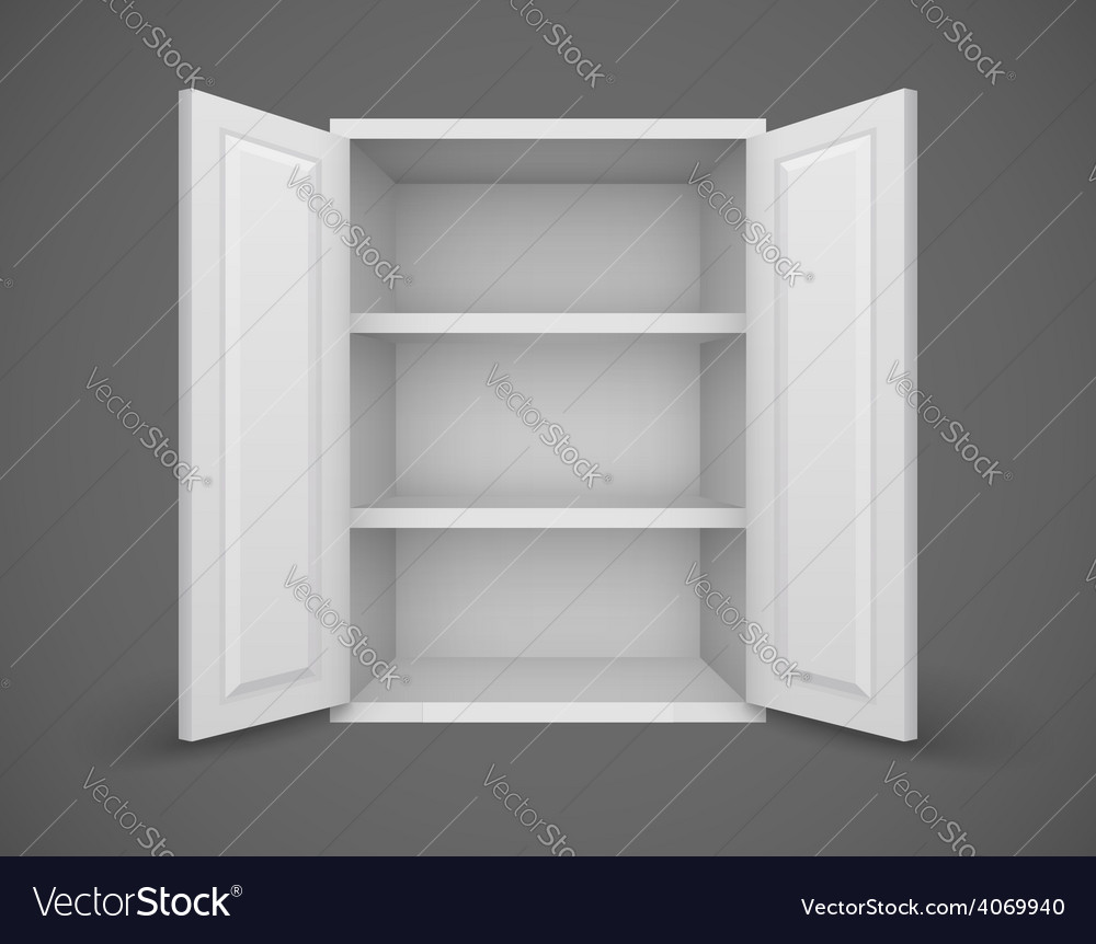 Empty box with open doors and vector | Price: 1 Credit (USD $1)
