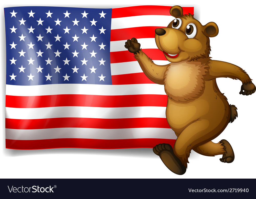 Flag and bear vector | Price: 1 Credit (USD $1)
