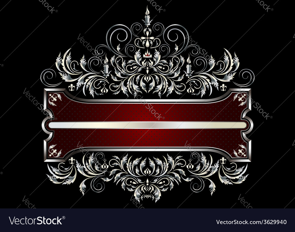 Frame with decor of the victorian style vector | Price: 1 Credit (USD $1)