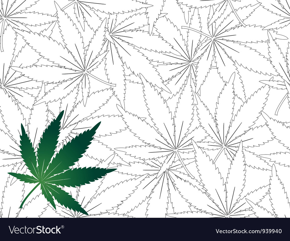 Seamless cannabis leaf background vector | Price: 1 Credit (USD $1)