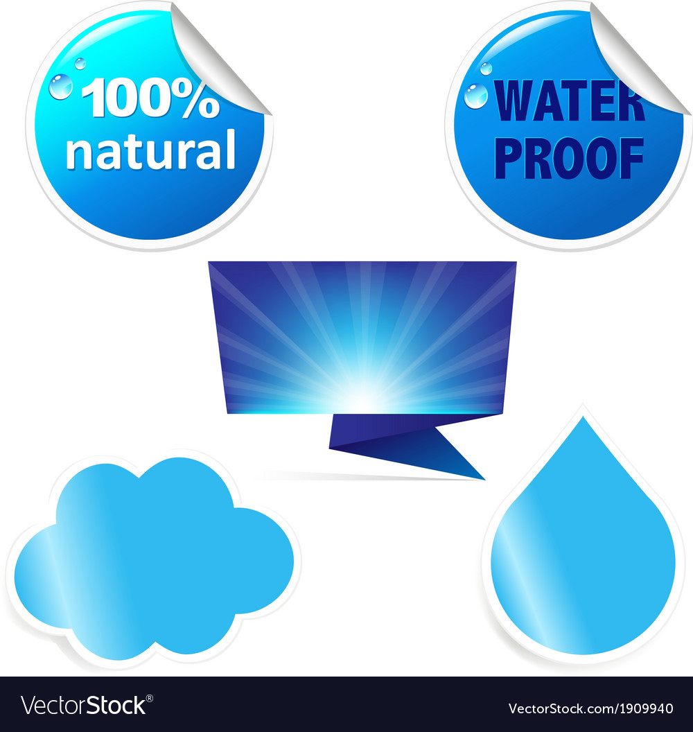 Water sticker vector | Price: 1 Credit (USD $1)