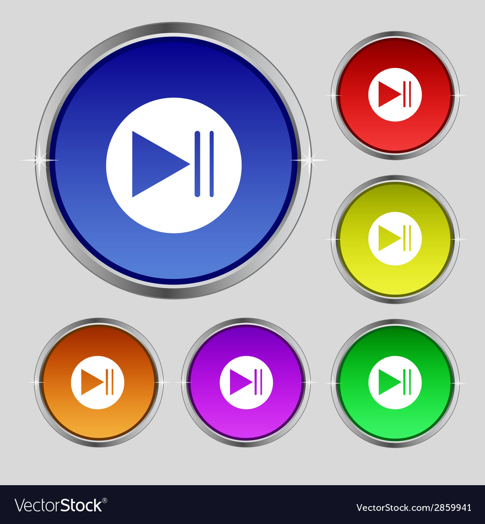 Arrow sign icon next button navigation symbol set vector | Price: 1 Credit (USD $1)