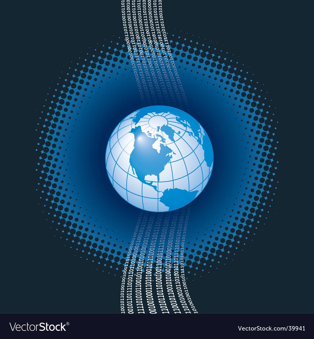 Binary globe background vector | Price: 1 Credit (USD $1)