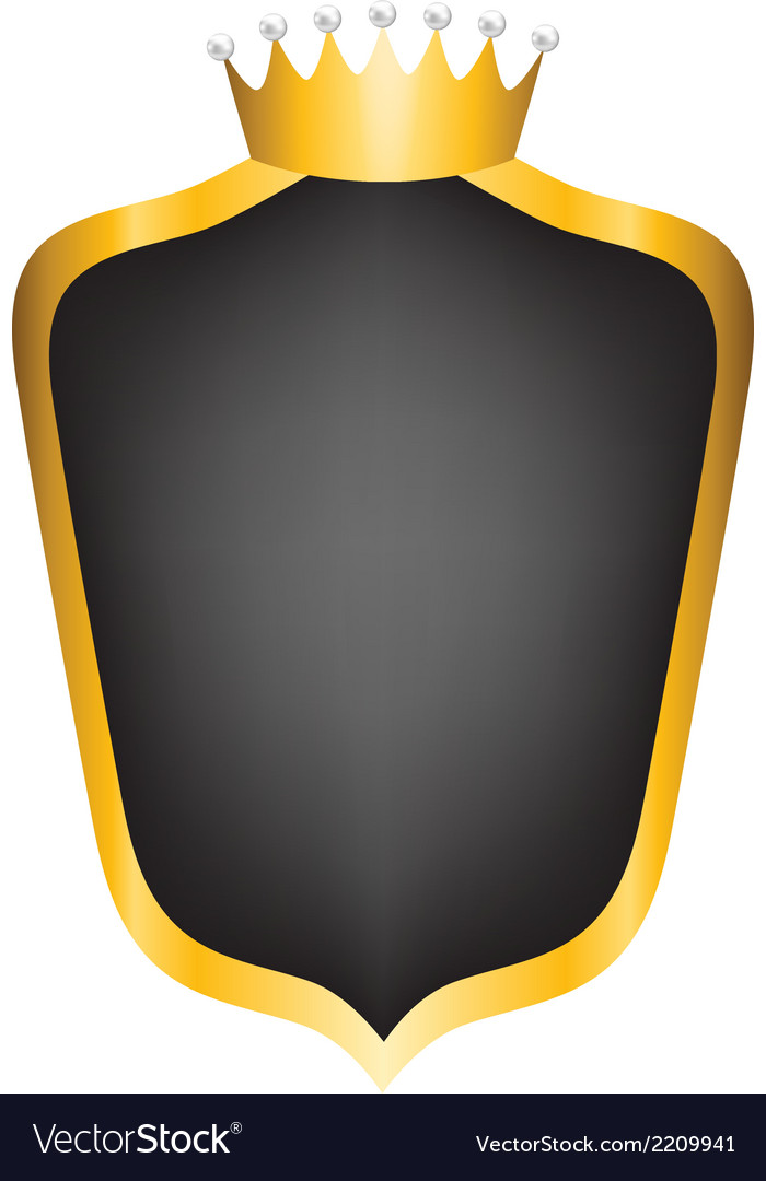 Black shield and crown vector | Price: 1 Credit (USD $1)
