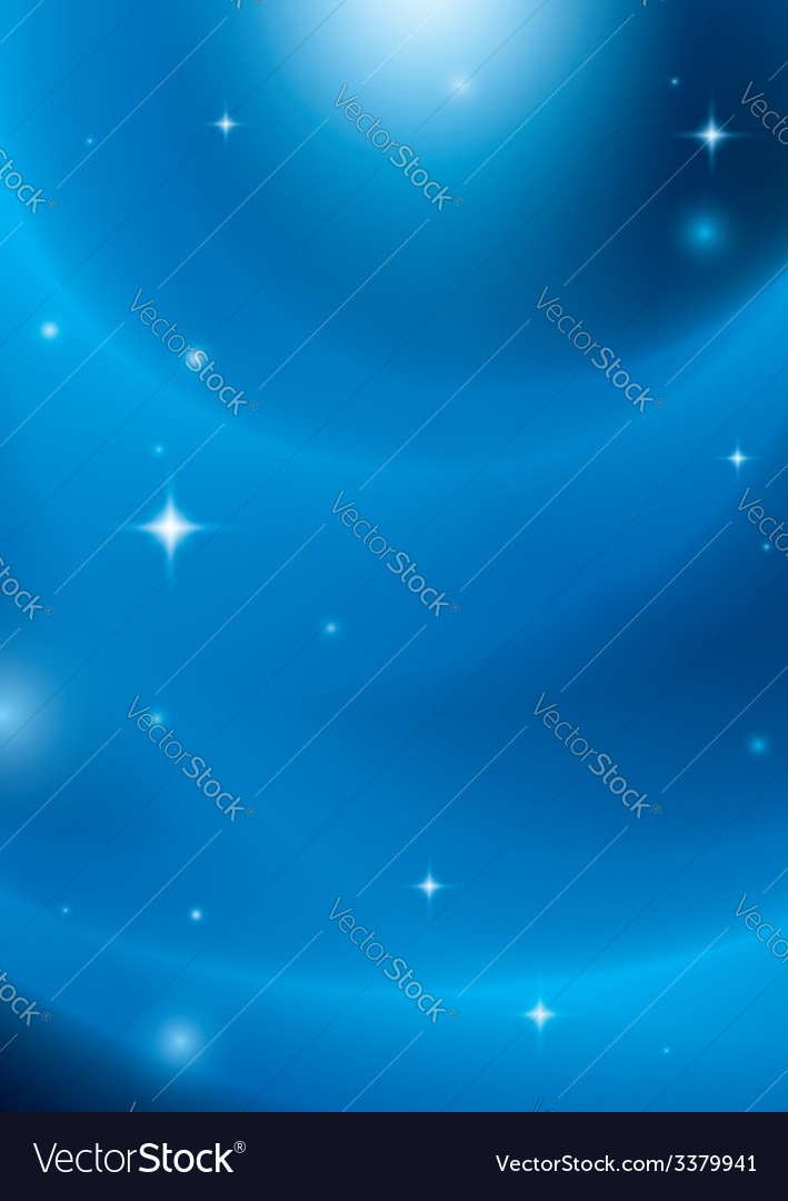 Blue abstract background with stars and lights vector | Price: 1 Credit (USD $1)
