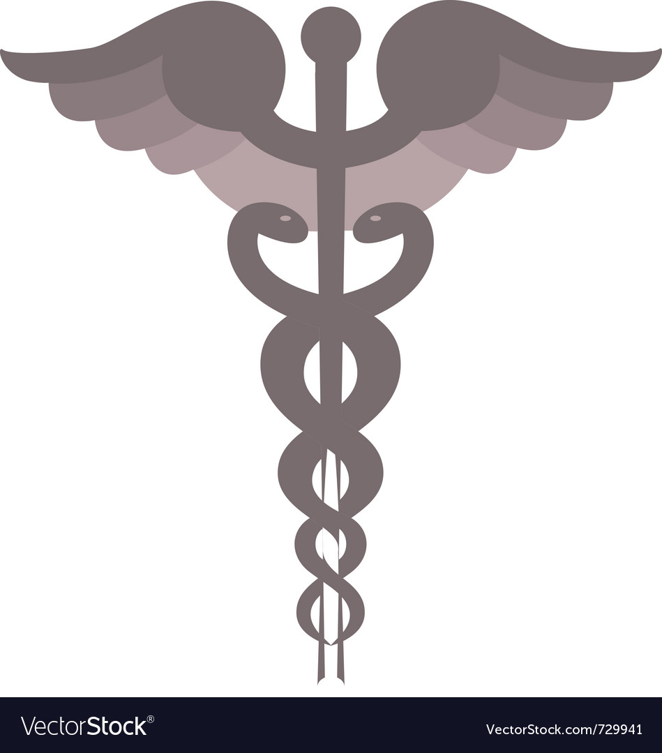 Caduceus symbol vector | Price: 1 Credit (USD $1)