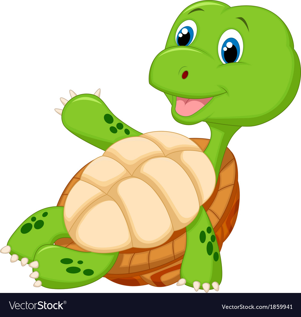 Cute tortoise cartoon relaxing vector | Price: 1 Credit (USD $1)