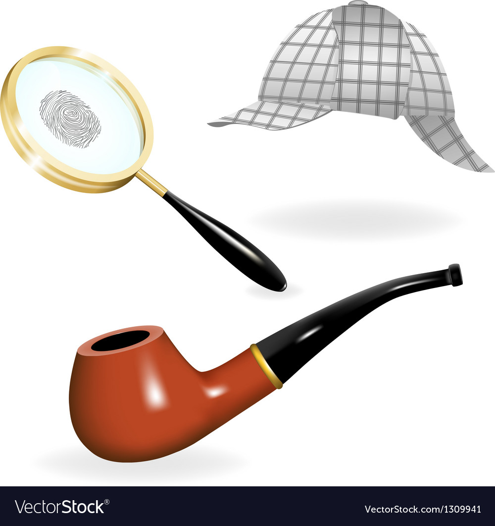 Detective set vector | Price: 3 Credit (USD $3)