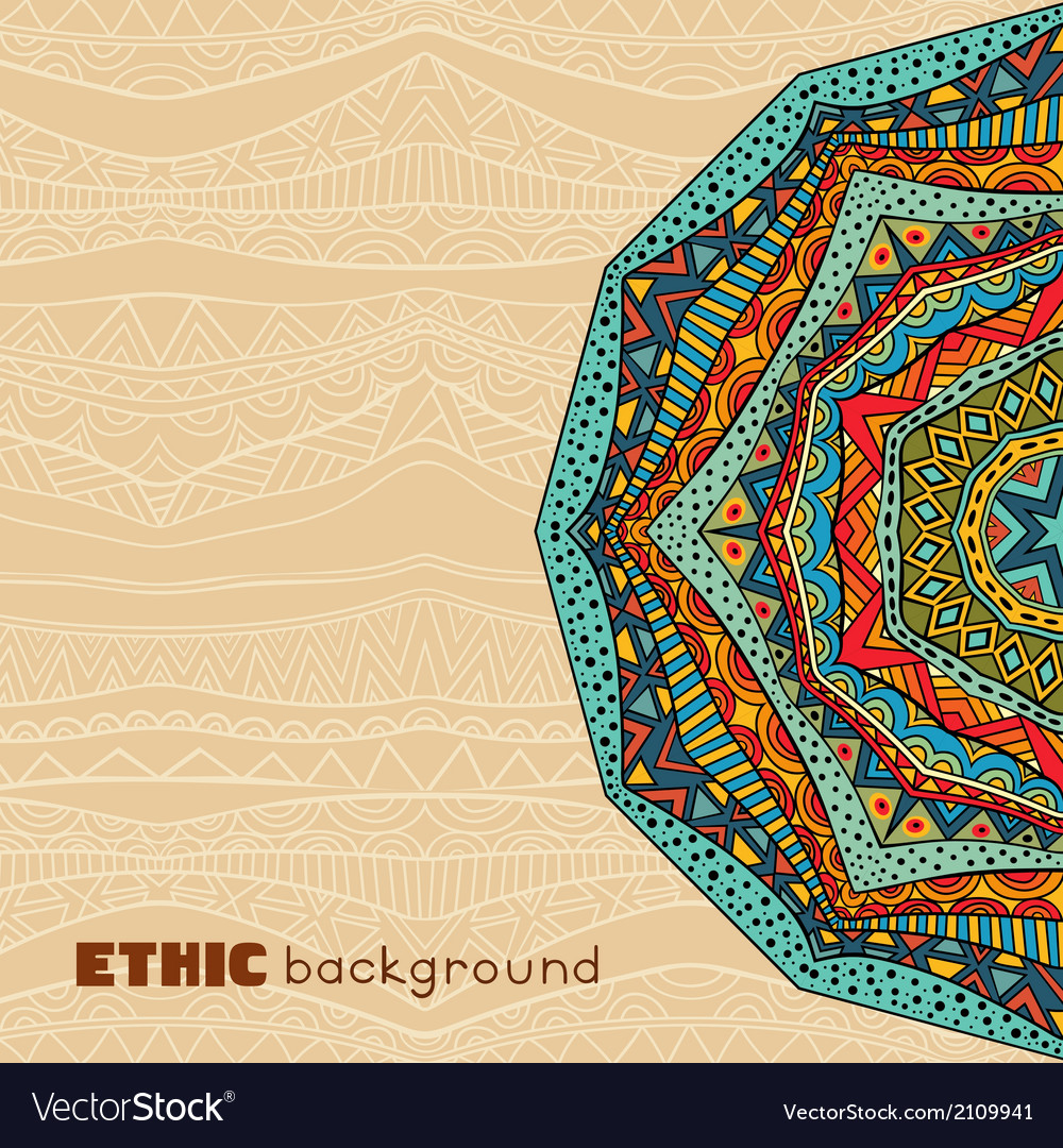 Ethnic abstract background vector | Price: 1 Credit (USD $1)