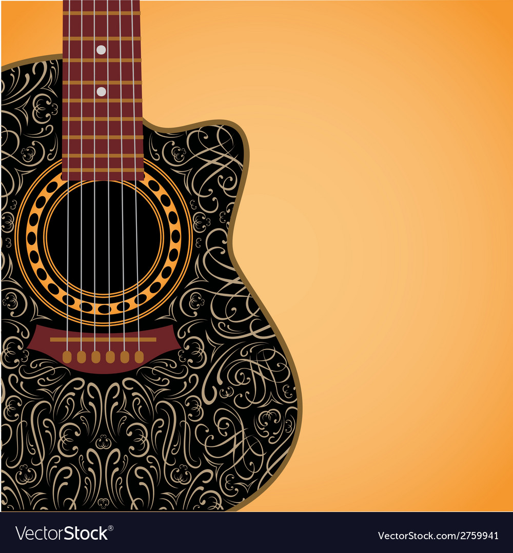 Gradient background with clipped guitar vector | Price: 1 Credit (USD $1)