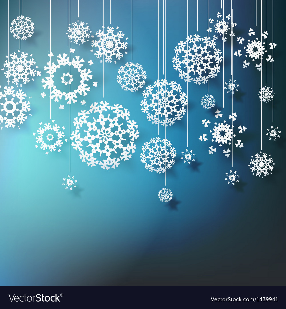 High definition snowflakes on blue eps 10 vector | Price: 1 Credit (USD $1)