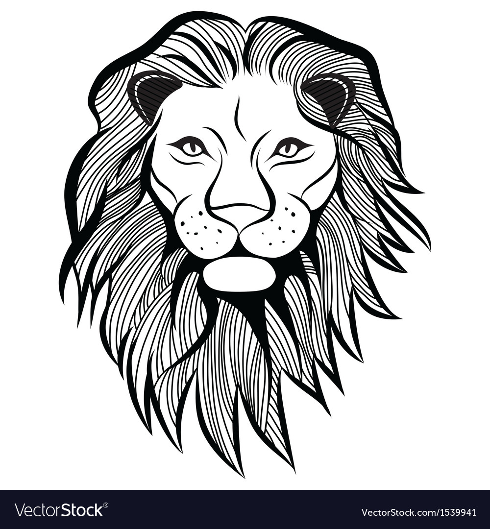 Lion head animal vector | Price: 1 Credit (USD $1)