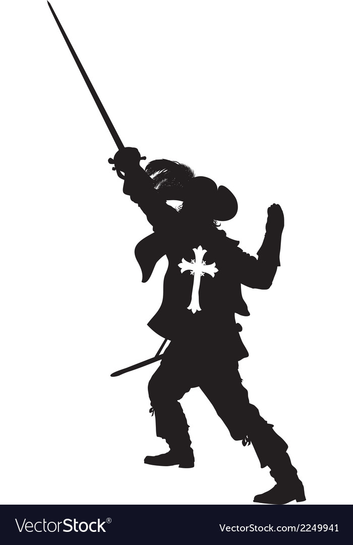 Musketeer warriors theme vector | Price: 1 Credit (USD $1)